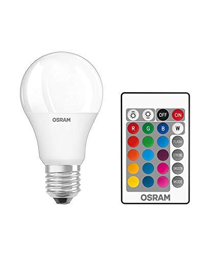 Osram Star+ Lampadina LED a Sfera, Luce Bianca e Colorata, Dimmerabile da Telecomando, E14, 40 W Equivalenti, 5.5 W, Bunt, Energy A+