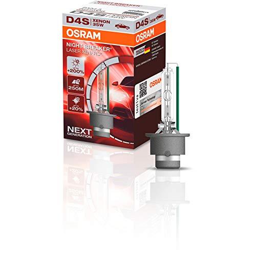 OSRAM XENARC NIGHT BREAKER LASER D4S, +200% di luce, bulbo HID allo xeno, lampada a scarica, 66440XNL, astuccio (1 lampada)