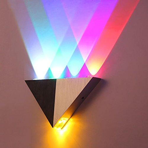 OurLeeme Applique da parete a Led, 5W Alluminio Moderno Plafoniere da parete a LED Illuminazione domestica per interni (5 colori)