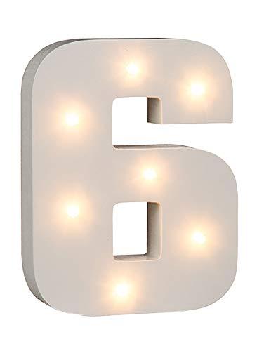 Out of the blue, numero 6 con illuminazione, con 7LED