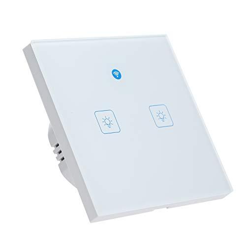 OWSOO Interruttore WiFi Parete con Radar Motion Sensor e Allarme di Invasione illegale Compatibile con IFTTT/Alexa/Google Home/Siri Voice,App,Touch Control,Timer,2 Gang