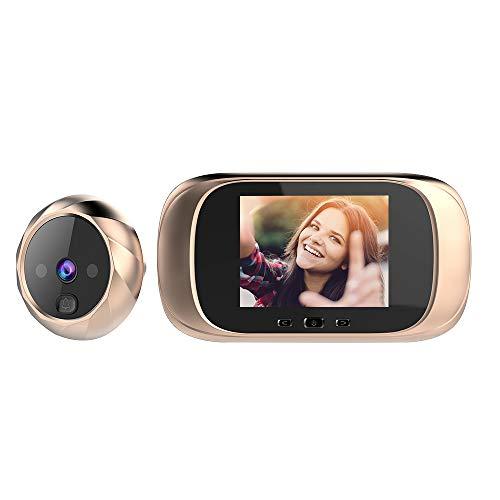 OWSOO Spioncino Elettronico con Display Digitale Porta,Schermo LCD da 2,8 Pollici,Videocitofono Telecamera Campanello,Visione Notturna,Memoria incorporata,Scatta Foto automaticamente