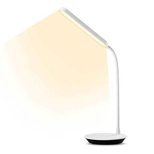 Oyihoo Lampada da Scrivania, Lampada da Tavolo Lampada da Scrivania a LED per la Protezione degli Occhi con 3 modalità di Illuminazione, Dimmerabile, Touch Control, Porta di Ricarica USB.