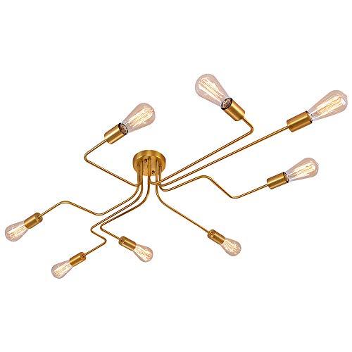 OYIPRO Moderno Lampadari Plafoniere lampada 8 E27 Per soggiorno ristorante camera da letto Cafe (Senza lampadina)
