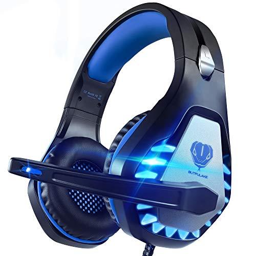 Pacrate Cuffie da Gaming per PS4 con Microfono, GH-1 Riduzione del Rumore Cuffie con Stereo Bassi per PS4 Xbox One, Laptop, Mac, Smart Phone per Bambini, Donne, Uomini