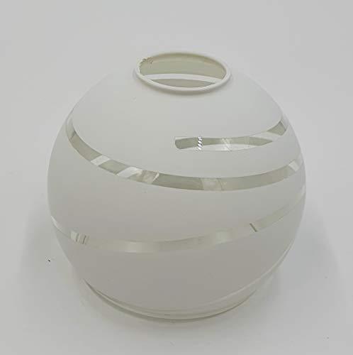Paralume in vetro bianco / trasparente, a spirale, design E14, paralume di ricambio in vetro, per lampada da tavolo e altro per lampada a LED