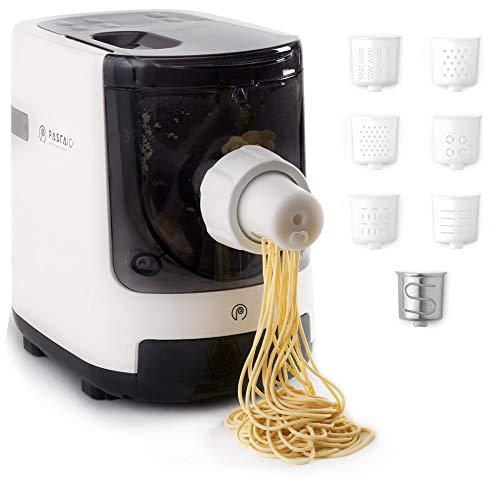 PASTAIO | Macchina per la Pasta Fresca e per gli Impasti. Pasta Maker, fino a 800g di pasta per ciclo, pesatura automatica, 7 trafile incluse per 10 tipi di pasta, 180W