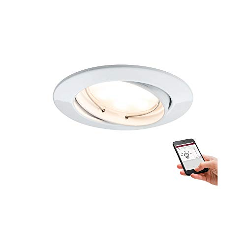 Paulmann 50006 SmartHome Bluetooth Goal Set incasso LED 3x5,2W regolabile orientabile 230/24V 51mm bianco/alu zinco