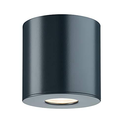 Paulmann 796.70Lampada a Soffitto Plafoniera Illuminazione Esterna, 4.4W, Antracite, 9.5 x 9.5 x 9.5cm