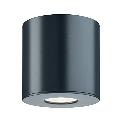 Paulmann 79671Lampada a Soffitto Plafoniera Illuminazione Esterna, 4.4W, Antracite, 9.5 x 9.5 x 9.5cm