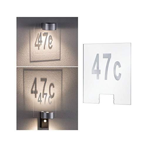 Paulmann 79674Outdoor House Numero Civico Plastica 796.74Lampade Per Esterni di Civico, Plastica, Trasparente, 24 x 0, 4 x 20cm