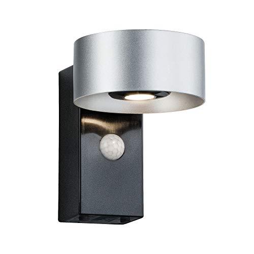 Paulmann 796.77 Outdoor House Cono con Sensore di Movimento, Alluminio, 6W, Bianco Caldo, 15.5 x 11 x 13.8cm