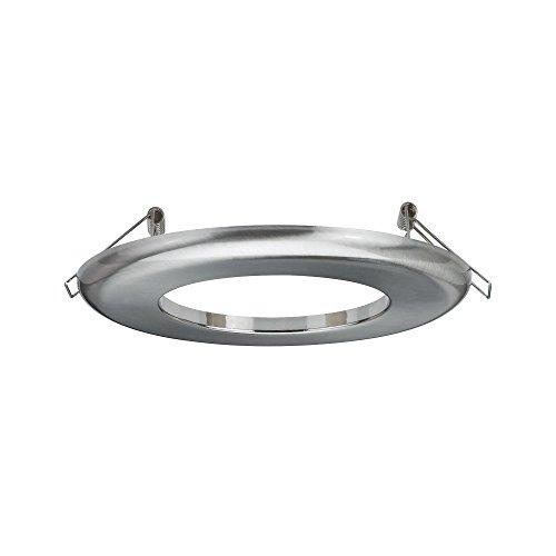 Paulmann 92506 Adattatore per lampade da Incasso Ø 130 mm Converter Diametro di Installazione da 75-120 mm a 68-70 mm Pezzo Intermedio, Ferro Spazzolato