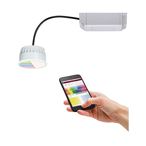 Paulmann 92966 - Faretto da incasso a LED, modulo Coin Smart Home Zigbee RGBW, rotondo, incl. 1 x 2,5 Watt, dimmerabile, 2700 K