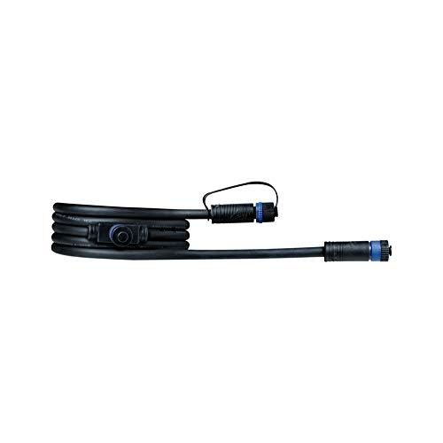 Paulmann 93926 Sistema di Illuminazione Plug & Shine Cavo di Giunzione 200 cm, Nero 24 V