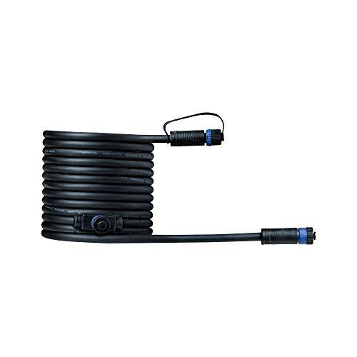 Paulmann 93927 Sistema di Illuminazione Plug & Shine Cavo di Giunzione 500 cm, Nero 24 V