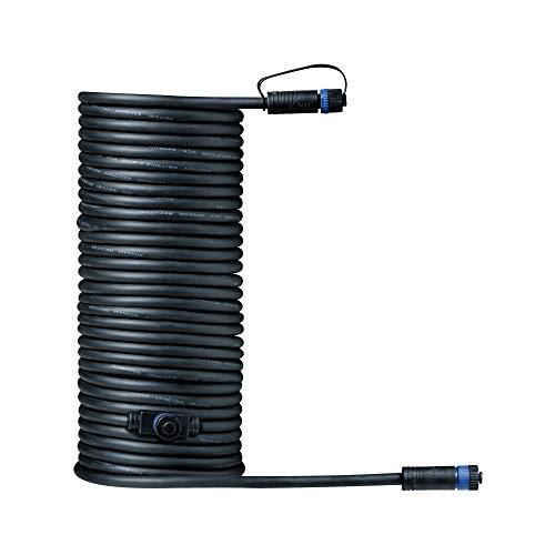 Paulmann 939.28 Sistema di Illuminazione Plug & Shine Cavo di Giunzione 1000 cm 93928 Nero 24 V