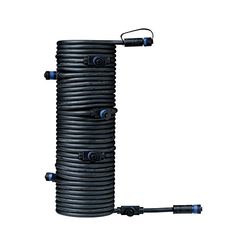 Paulmann 93931 Sistema di Illuminazione Plug & Shine 7Fach-Verteiler, Nero 24 V