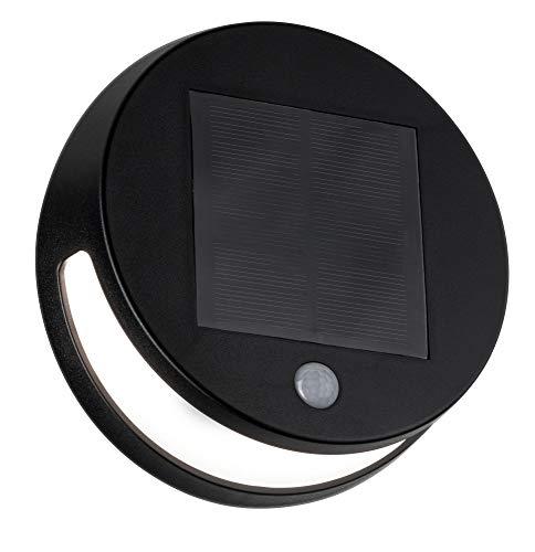 Paulmann 94265 Solar LED Applique Helena Rotonda incl. 1 3W Antracite Illuminazione da Giardino Parete Esterna 3000K 3 W