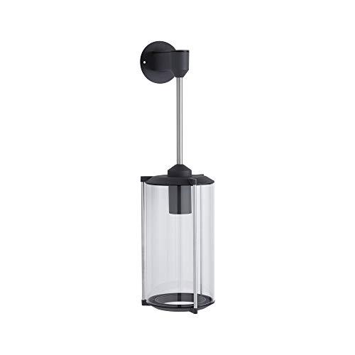 Paulmann 94281 Outdoor applique classica rotonda max. 60 Watt illuminazione per esterni grigio illuminazione da giardino vetro parete esterna E27