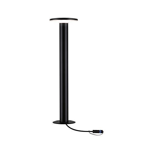 Paulmann 94312 Plug & Shine LED apparecchio per esterni bollard Plate incl. 1 lampada da 6,1 Watt dimmerabile IP44 antracite illuminazione da giardino plastica bianco caldo 3000 K