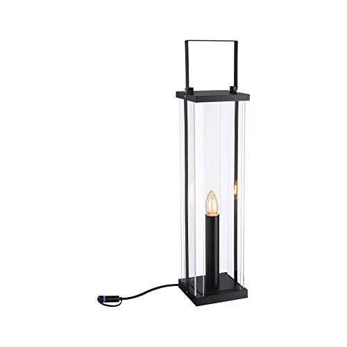 Paulmann 94317 Plug & Shine - Lampada LED per esterni classica, 56 cm, 24 V, IP44, E14, colore: antracite, per esterni, 1900 K