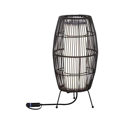 Paulmann 94319 Plug & Shine - Lampada LED per esterni Classic Light Basket 24 V, IP44, 40 x 20 cm, per esterni, 3000 K, colore: antracite