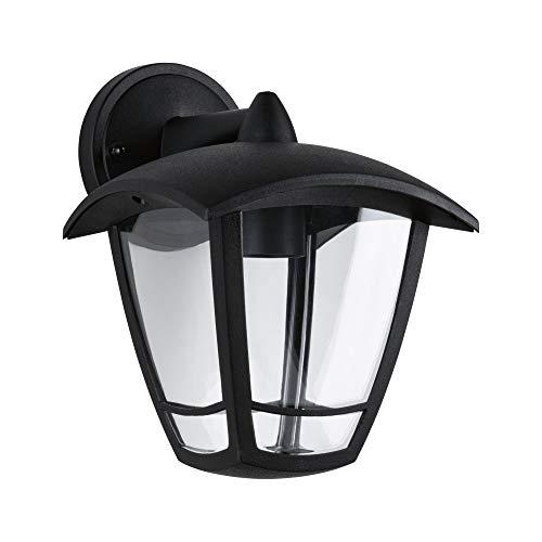 Paulmann 94392 Parete Classic Curved IP44, dimmerabile, Illuminazione Esterna, Trasparente, Nero, Lampada da Giardino, E27