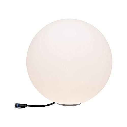 Paulmann Lampada Sferica Lampada da Esterno Illuminazione Giardino Terrazzo Illuminazione, Plastica, Integrato, 46W, Bianco, 40 x 40 x 40cm