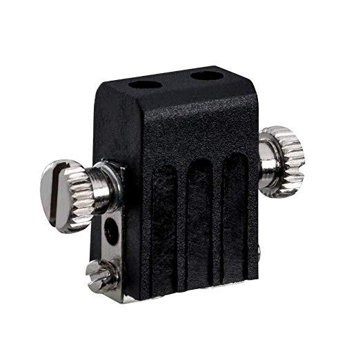 Paulmann Porta Socket Cavi 97845 Sistema Accessori per Fune, portalampada Max. 50 Watt Lampada da soffitto Nero Binario Metallo Filo GX3,5