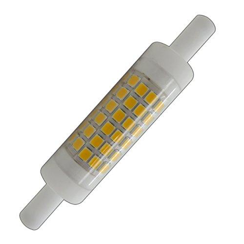 PB-Versand - Lampadina R7s a LED, dimmerabile, piccola, luce bianca calda R7s 78 mm x 15 mm.