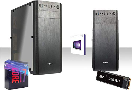 PC DESKTOP COMPLETO INTEL i7-9700 4.7GHZ SIXCORE/Graphics 630 4K/RAM DDR4 8GB 2666MHZ/Ssd M.2 256GB+HD 1TB/WIFI 300MBPS/LICENZA WINDOWS 10 PRO/VGA,DVI,USB 2.0,3.0,EDITING, UFFICIO,GRAFICA,GAMMA PC M.2