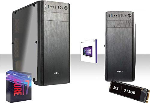 Pc Desktop Completo Intel i7-9700 4.7Ghz/Intel Uhd Graphics 630/Ram Ddr4 8GB/Ssd M2 512GB/Wifi 300Mbps/Windows 10Pro