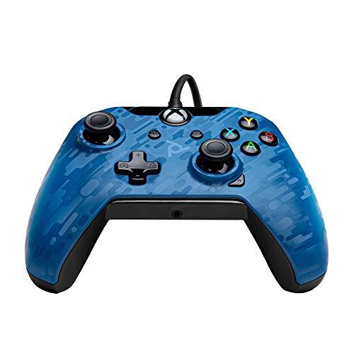 PDP Controller con cavo Xbox One - series X blu mimetico