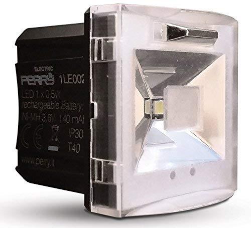 Perry 1LE002 Lampada di Emergenza Estraibile, Bianco