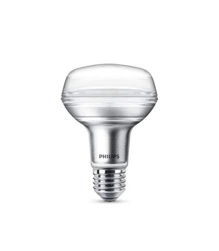 Philips 8L60R80B1 Lampadina LED Riflettore R80, 60 W, E27, 2700 K Non Dimmerabile 4W 4 W, Bianco