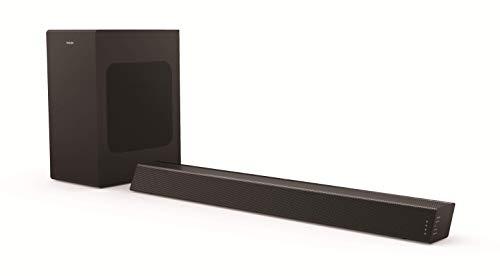 Philips B7305/10 Soundbar Bluetooth con Subwoofer Wireless (Altoparlante Bluetooth, 2.1 Canali, 300 W, Dolby Audio, HDMI ARC, Design Geometrico con Staffa per Montaggio a Parete) - Modello 2020/2021