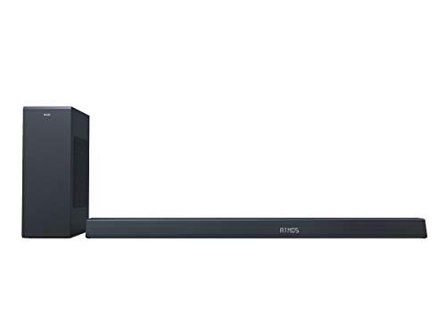 Philips B8805/10 Altoparlante Soundbar con Subwoofer Wireless, Bluetooth, 3.1 Canali, 400 W, Dolby Atmos, HDMI eARC, Compatibile con DTS Play-Fi e Assistenti Vocali, Design Basso, Modello 2020/2021