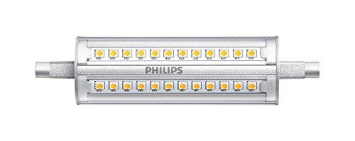 Philips Corepro, luce LED dimmerabile, neutra, trasparente, sostituzione per luce alogena lineare R7S, luce bianca, 14W, G13, Vetro, White, G13, 14 wattsW 240 voltsV