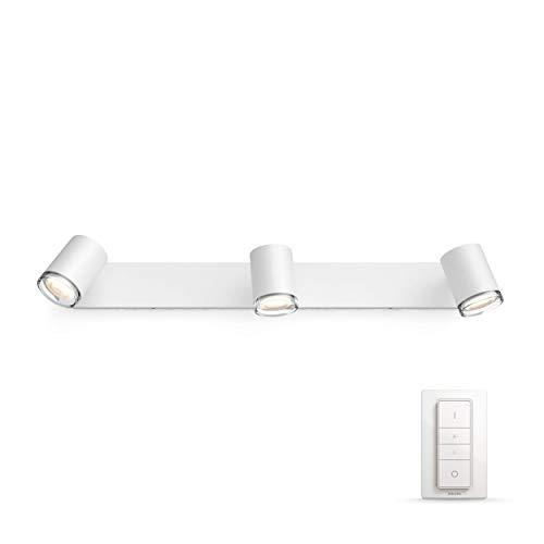 Philips Hue Adore Faretti per Bagno, con 3 Luci, Potenza 5.5 W, Bianco