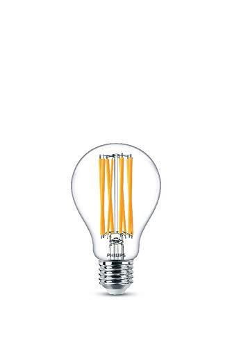 Philips Lampadina LED a Filamento, Equivalente a 150W, Attacco E27, Luce Bianca fredda, 4000K, non Dimmerabile