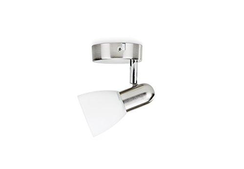 Philips Lighting Burlap Faretto Singolo Orientabile, Cromato, 1 x 40 W