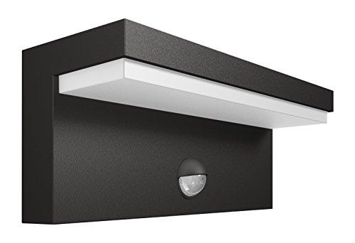 Philips Lighting Bustan Lampada da Parete da Esterno, LED, con Sensore di Movimento, 2700 K, Grigio Scuro