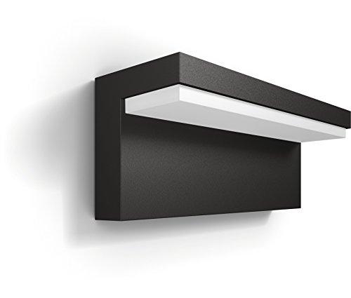Philips Lighting Bustan Lampada da Parete da Esterno, LED, senza Sensore di Movimento, 2700 K, Grigio Scuro