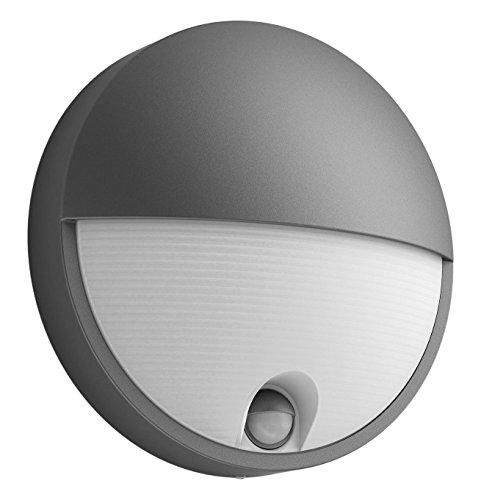 Philips Lighting Capricorn Lampada LED da Parete, Giardino ed Esterni con Sensore di Movimento, 6W, Nero