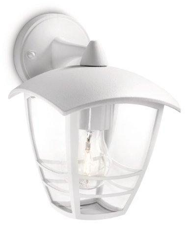 Philips Lighting Creek Lampada da Parete da Esterno, Lanterna Down, Alluminio, Bianco