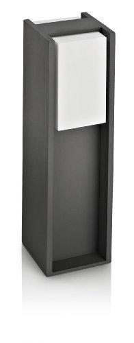 Philips Lighting da Esterno, Altezza 40 cm, Alluminio Antracite e Sintetico, Lampadina RE 15 W Inclusa