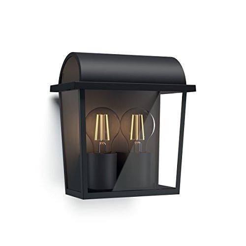 Philips Lighting Harvest, Lampada da Parete per Esterni, Design Vintage Black Edition, Nickel