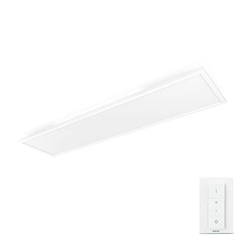 Philips Lighting Hue Aurelle Lampada da Soffitto LED Connessa, Rettangolare, Bianco, 55 W