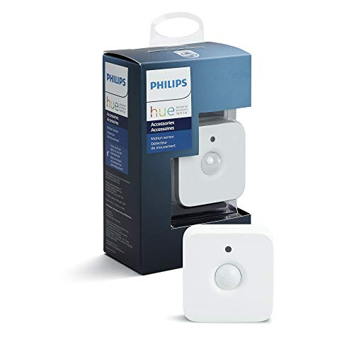 Philips Lighting Hue Sensore di Movimento per Accensione e Spegnimento Lampadine, Batterie Incluse, Bianco, 5.5 x 5.5 x 5.5 cm